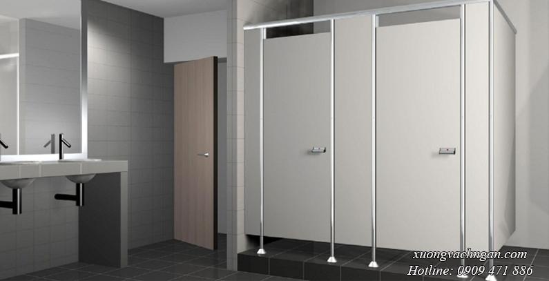 vách ngăn compact vệ sinh màu xám
