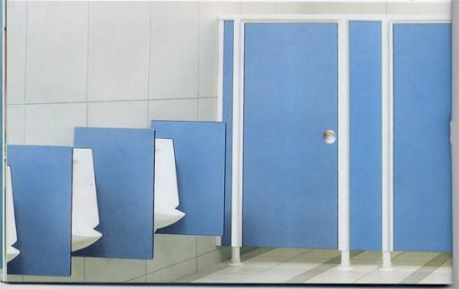 Tấm Compact làm vách ngăn vệ sinh